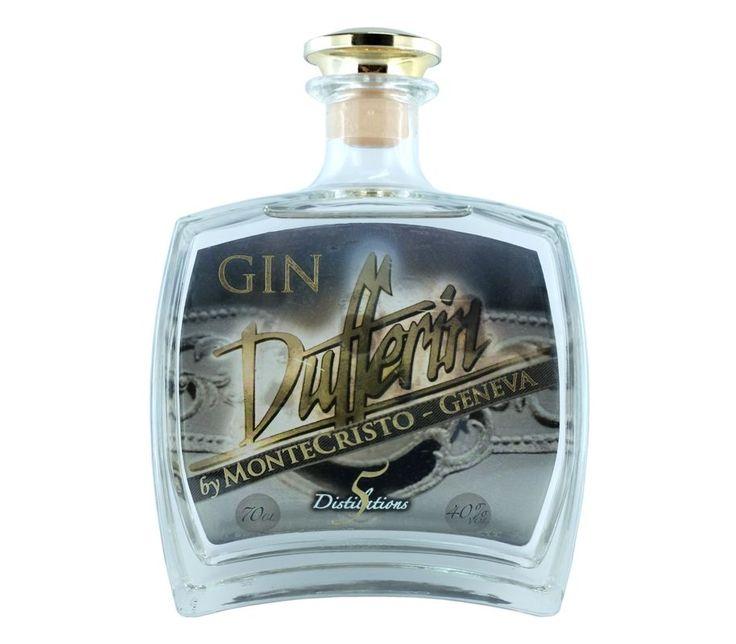 Gin Dufferin by Monte Cristo ~ Geneva ● Gin Dufferin by Monte Cristo, es unaGinebra Premium tipo London Dry Gin con 5 destilaciones. Es una ginebra elaborada en Suiza, aunque su base de alcohol se importa de Reino Unido, asegurando así la calidad del mismo. Su formula incluye 10 botánicos cuidadosamente seleccionados entre los que destaca elenebro, cardamomo y la mediterránea menta brava. Un destilado equilibrado y aromático.  - , #5Destilaciones #Dufferin #Dufferin