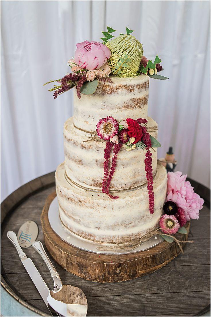 Braeside Chapel Wedding Styling Loving this rustic glam wedding in the Braeside Marquee #weddingstyling #braesidechapel #rustic #glam #rustic #winebarrel #nakedweddingcake