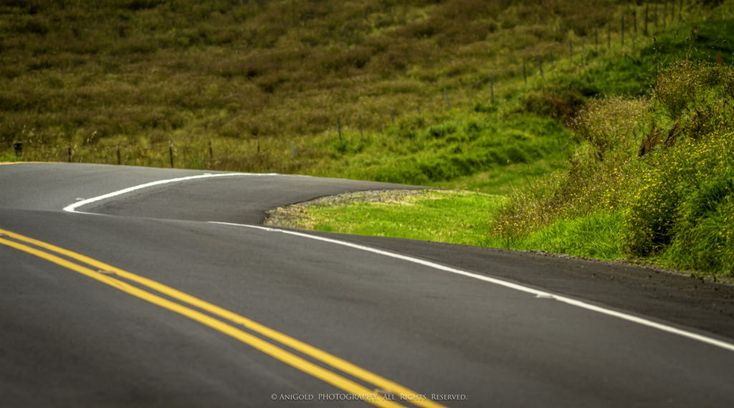 """""""Yellow Line"""" by AniGold, USA, landscape, photography, road"""
