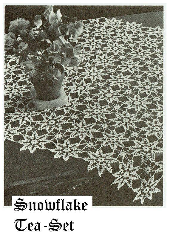 PDF Vintage Snowflake Tablecloth Crochet Pattern Doily