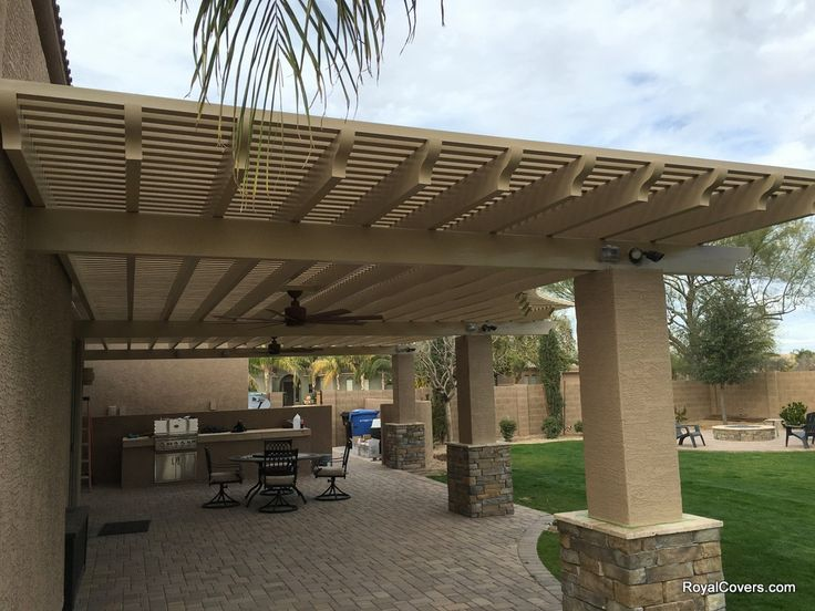 Alumawood Patio Cover By Royal Covers Of Arizona Yard