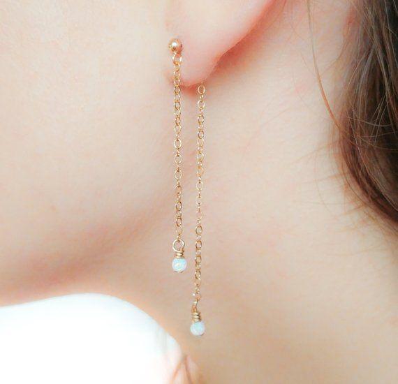 bf5c1b4c33 Double Sided Earring-Front Back Earrings-Long Stud Earrings-Long ...