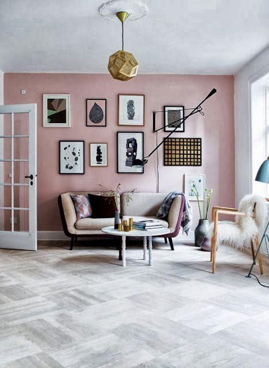 pink statement wall #livingroom #homedecor #interiordesign