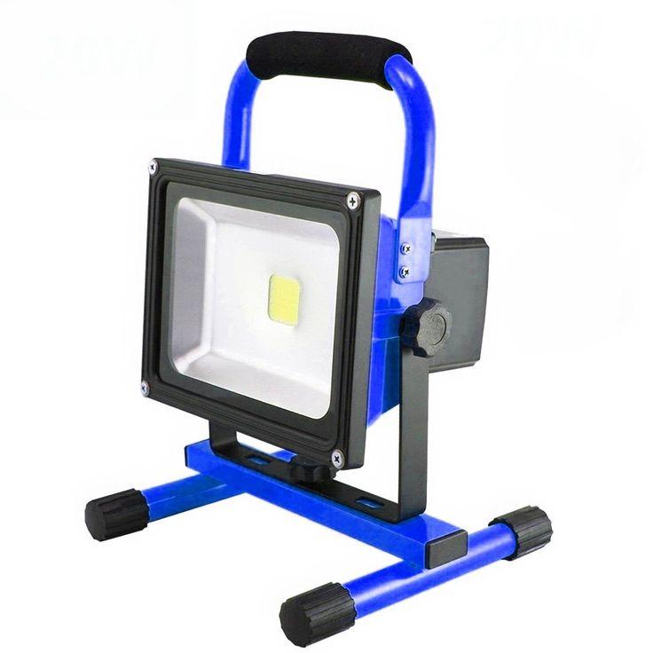 MCTECH® 20W Blau Warmweiß Handlampe LED AKKU Arbeitsscheinwerfer Beleuchtung Outdoor Lampe Flutlicht: Amazon.de: Garten