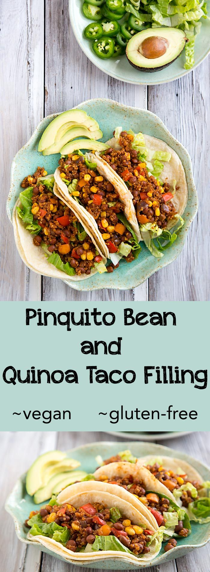 You won't miss the flavor or texture of meat with this vegan taco filling made with beans and quinoa. Gluten-free and fat-free too!