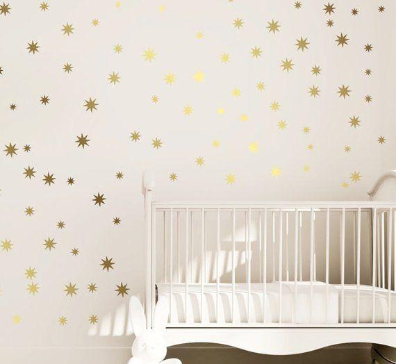 Star Vinyl Wall Decal 148 Etoiles En Argent Sticker Mural Etoile
