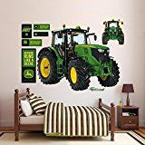 #ad John Deere 6210R Tractor Wall Decal 66 x 52in  John Deere 6210R Tractor Dimensions: 66W x 52H in.. Tear and fade-resistant vinyl. No sticky residue. Can be reused again and again. High resolution John Deere wall decal.   Company:  Fathead LLC  List Price:  $99.99  Amazon Price:  $109.99  https://www.amazon.com/John-Deere-6210R-Tractor-Decal/dp/B00RYQUREW?SubscriptionId=AKIAINK752IUT74DHSYQ&tag=containergardening08-20&linkCode=xm2&camp=2025&creative=165953&creativeASIN=B00RYQUREW