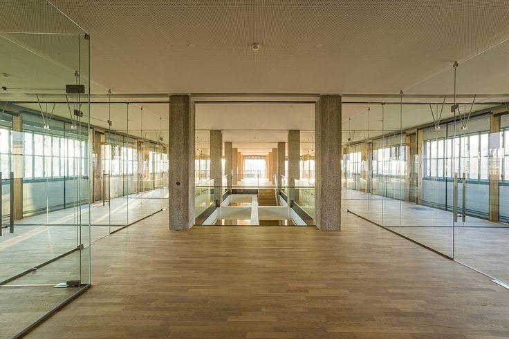 Tabakfabrik Linz: Das obere Stockwerk des neuen Netural Office.