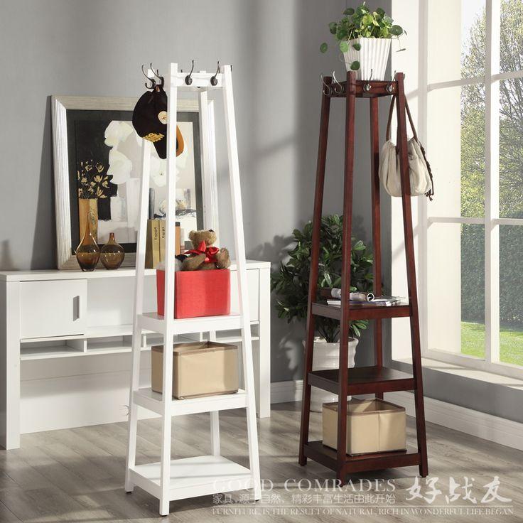 coat corner rack ikea creative home floor multilayer wood hangers clothes rack shelving racks
