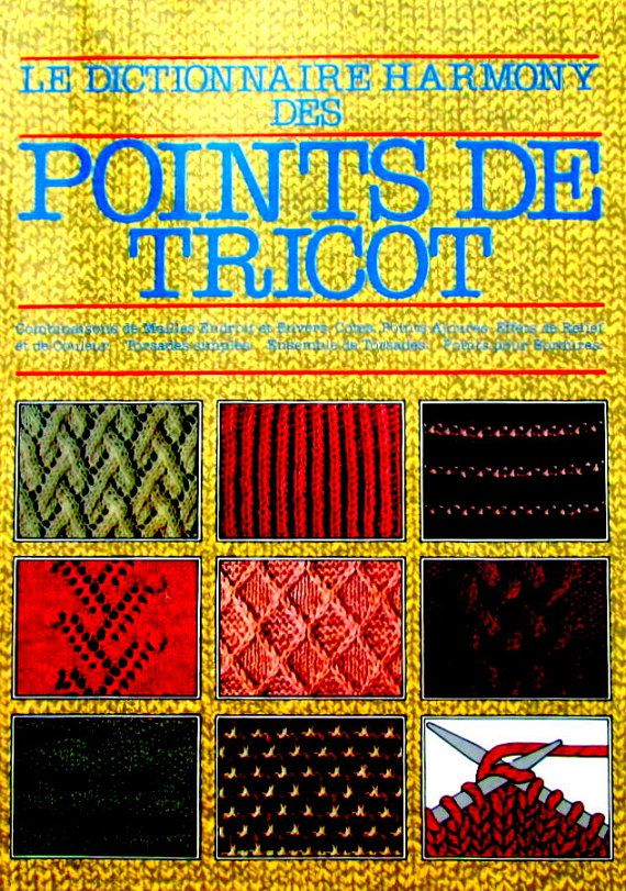 """CRAFT BOOKS in FRENCH*// """"Knitting Stitches in French Language. (Les Dictionnaire Harmony des Points de Tricot"""" Volume 1) *//On Special!!"""