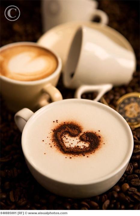 ♥ #coffee #cream #espresso #cappuccino #beverages #drink #art #design #chocolate