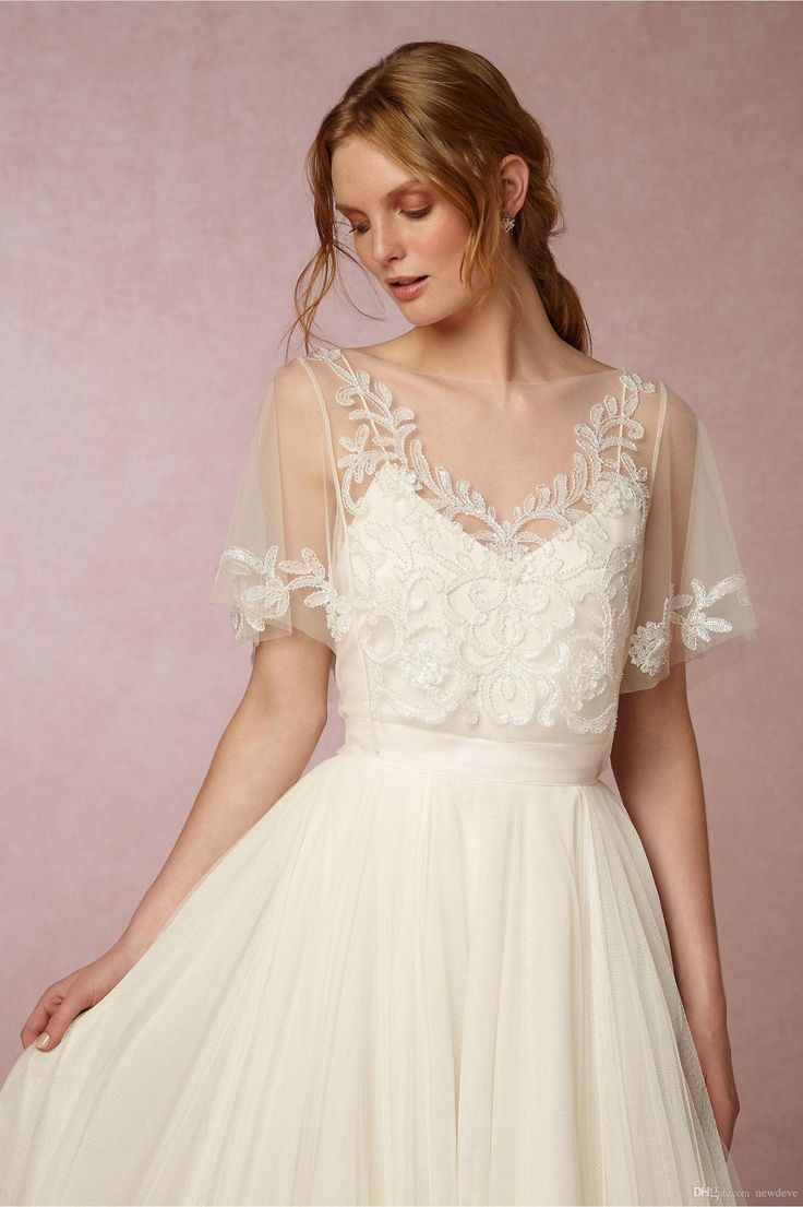 New Arrival Bridal Wraps Beaded Lace Applique Shawl Bridal Coat Backless Short S…