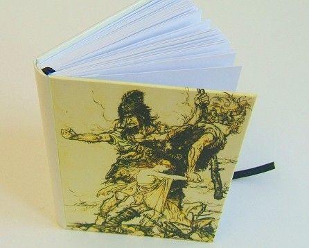 Olbrzymy Fasolt i Fafner niewolą Freję - Hand Made, nasz wyrób na wasze zamówienie | klar rare bookbinding
