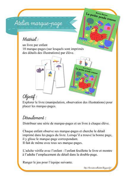 La maternelle de ToT: LES PETITES POULES ROUSSES - MARQUE-PAGES