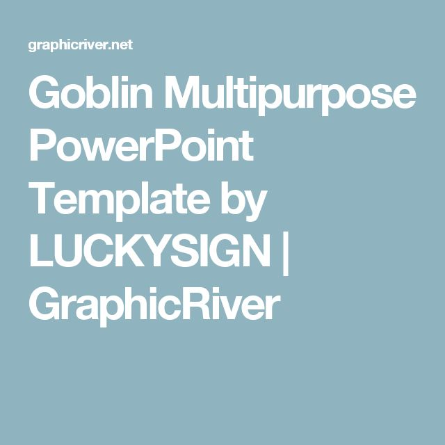 Goblin Multipurpose PowerPoint Template by LUCKYSIGN | GraphicRiver