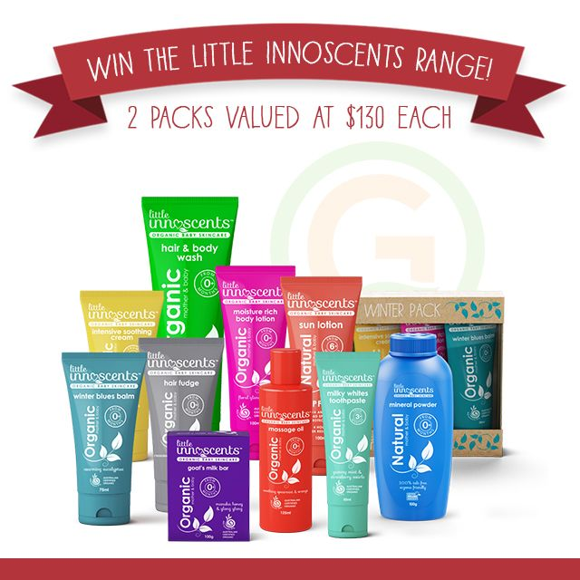 Guide To Organics is excited to be giving away TWO beautiful Little Innoscents Organic Baby Skin Care Packs!