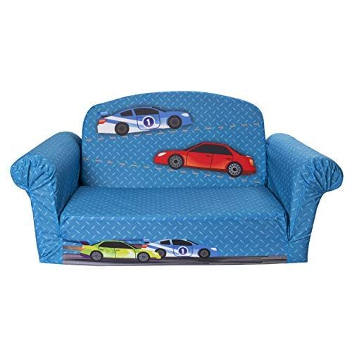Remarkable Marshmallow Furniture Childrens 2 In 1 Race Car Flip Open Machost Co Dining Chair Design Ideas Machostcouk