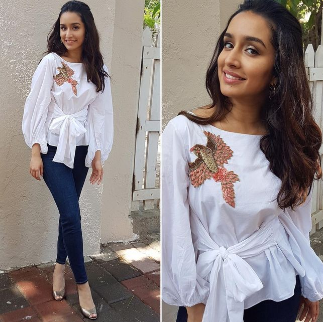 Shraddha Kapoor In An Embroidered Top