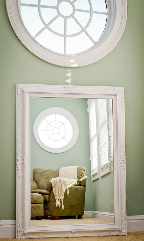 LARGE WHITE MIRROR For Sale Vintage Inspired By