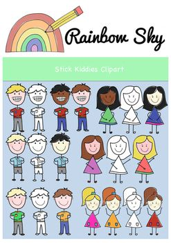 Stick Kiddies Clipart. Free Download. For personal or commercial use! Perfect for adding to your worksheets or activities.