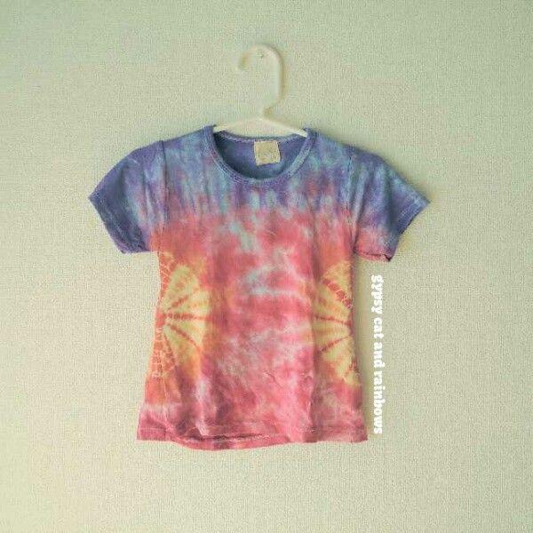 KIDS タイダイ Tシャツ #gypsycatandrainbows #tiedye #forkids