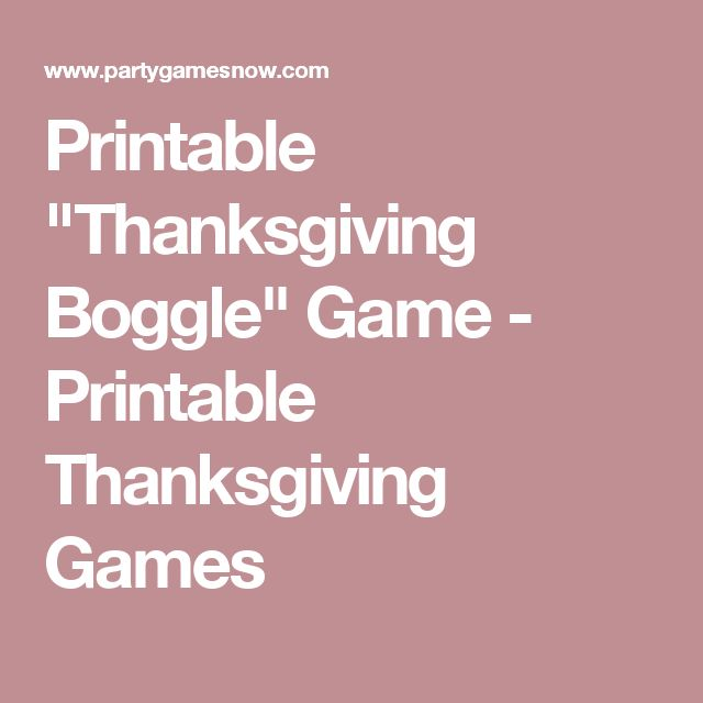 esl boggle thanksgiving