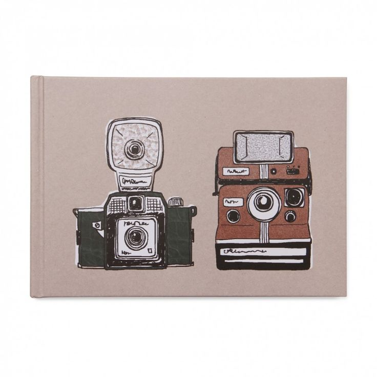 Retro cameras small self-adhesive photo album  | Paperchase