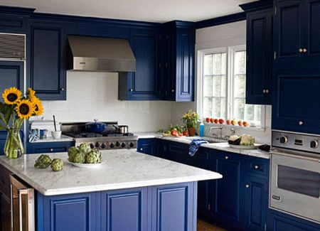 Royal Blue Kitchen Design Carved Wood Kitchen Cabinets