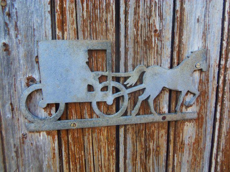 bois maison mur métal porte art le fer sculpture le soulagement ancien traîneau
