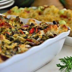 Festive Vegetarian Breakfast Casserole Recipe
