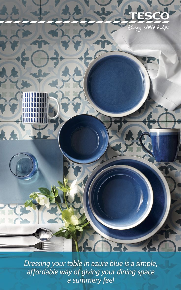 From a Santorini-inspired stripe place mat, £6, to a Blue Sahara 12-piece dinner set, £45, our range of gorgeous and affordable tableware has all you need to give your dining space a luxurious summer feel, working as beautifully for breakfast as it does for spontaneous al fresco dining