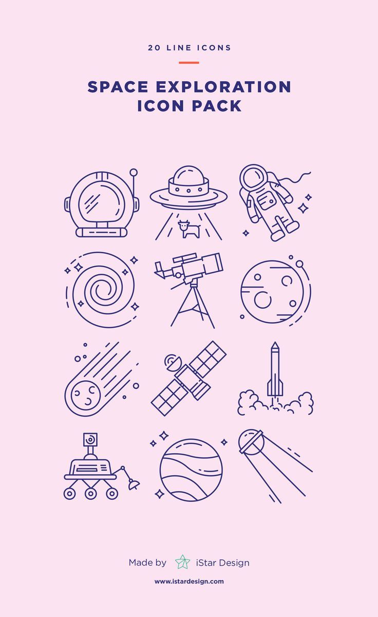 Space Exploration Icons Set made by iStar Design. …
