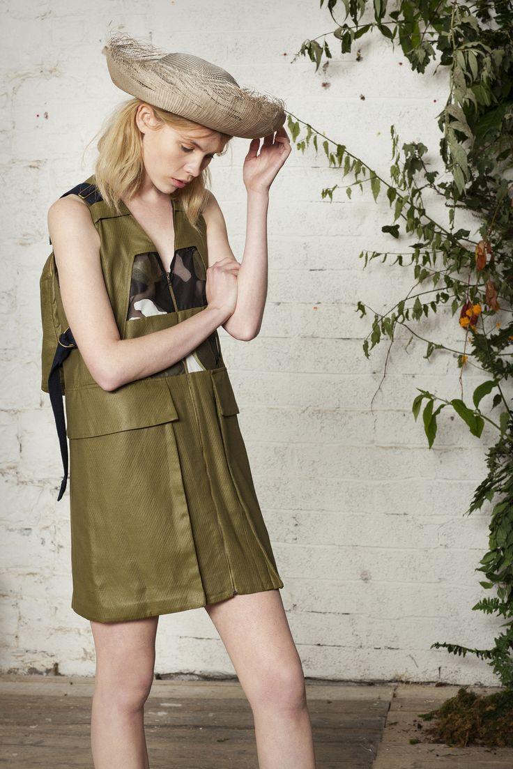 #girl #fashion #green #textile #print