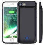 Bovon 5000mAh Coque Batterie iPhone 8/7 Chargeur Portable Batterie Externe Rechargeable Puissante Power Bank Coque Chargeur de Protection…