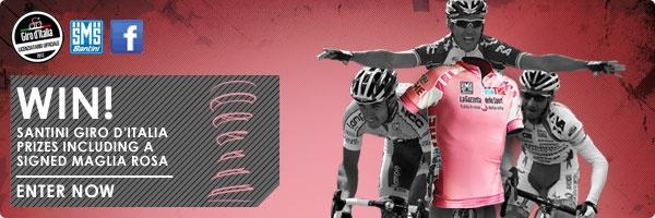 Enter the Santini Giro d'Italia FB comp to win a SINGED Giro Winners Jersey!