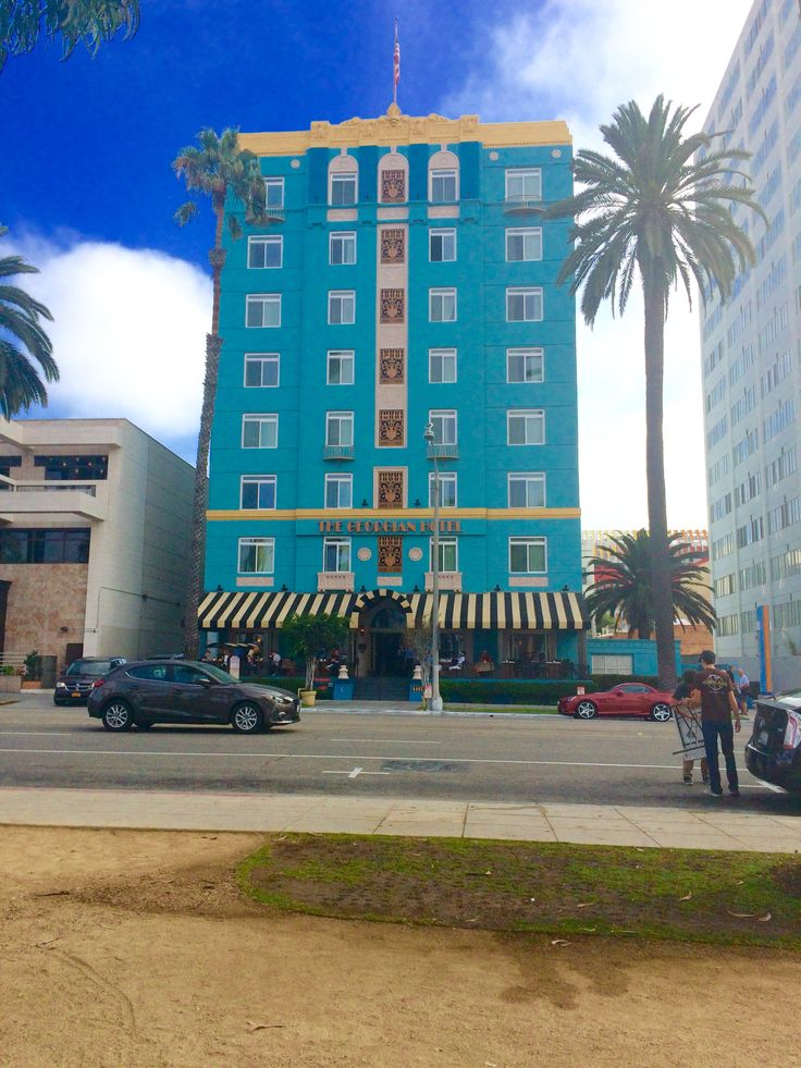 We didn't stay here but love the colour and style of the building The Georgian Hotel Santa Monica, CA