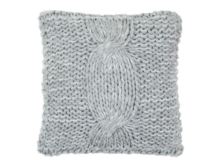 Cable Knit Grey Cushion Cover