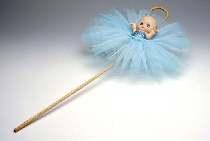 Classic kewpie with bamboo cane hook