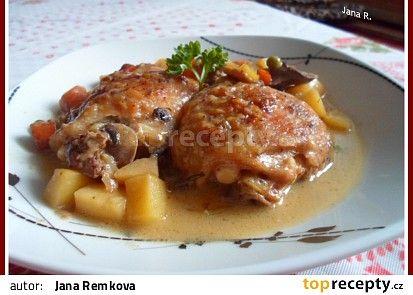 Kuřecí maso dobré hospodyně recept - TopRecepty.cz