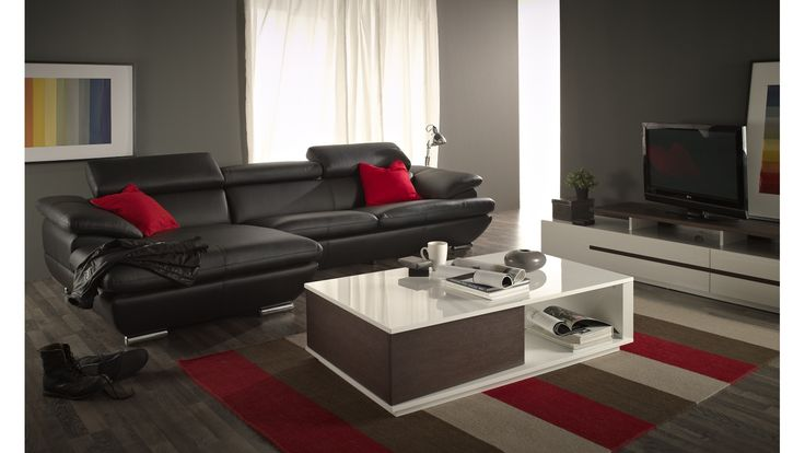 Home :: Furniture :: Living Room :: Sofas :: Jonas 3 Seater Sofa with Chaise Lounge