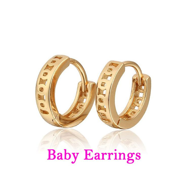 10 Pairs Kids Jewelry Gold Hoop Earrings For Baby Oorbellen Plated Brinco Ouro Boucle D'oreille Bebe Ohhringe Earings E18-81