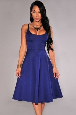 blue skater dress – Strawberrys & Champagne