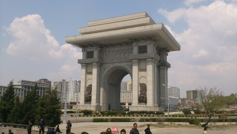 The biggest triumphal arch in the world. Only at Pyongyang!