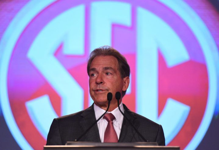 Nick Saban joined the radio show Wednesday morning.