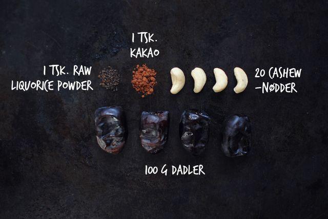 Lad mig introducere dig for mit nye yndlingssnacks for tiden: Dadel-trøfler. Jeg lavede dem for første gang for et par uger siden. En lille omgang, som af en eller anden grund blev spist op hurtigt. E