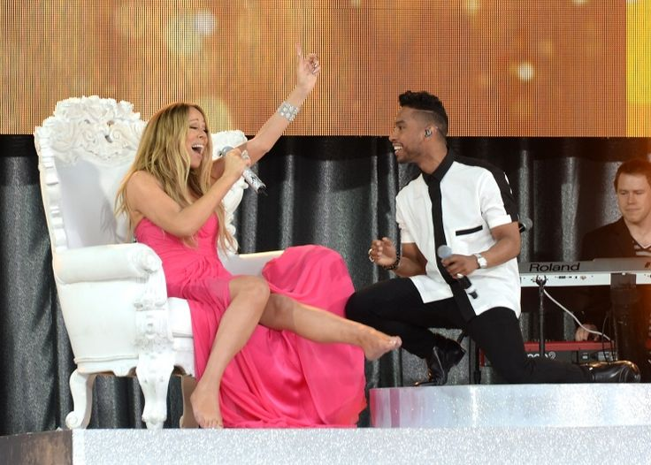 Mariah Carey And Miguel | GRAMMY.com: Wardrobes Malfunction, Miguel Performing, Mariah Carey, Periodic Wardrobes, Good Morning, Carey Late, Watches, Photo