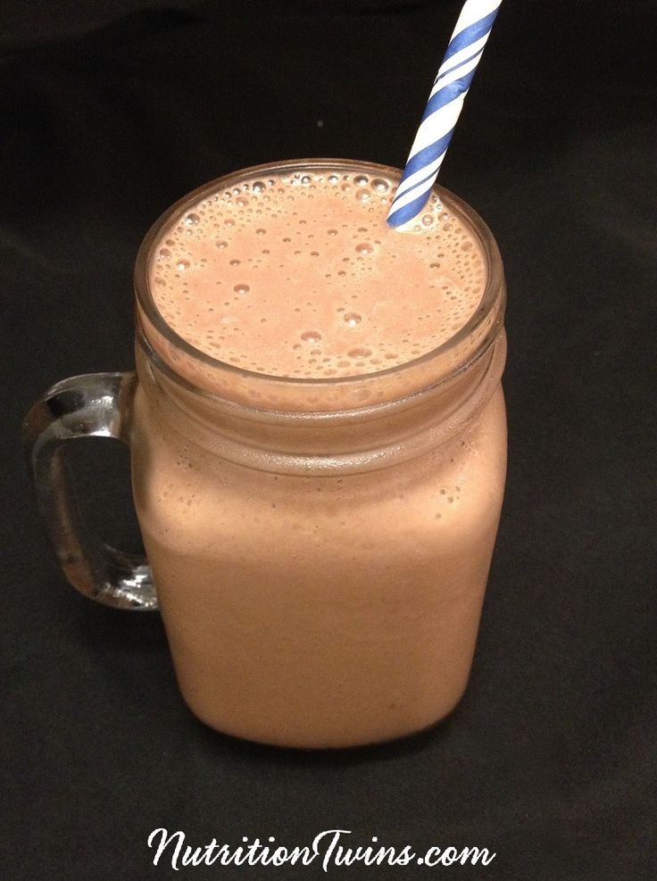 Cocoa Banana Burst Breakfast Smoothie | Only 247 Calories | Refreshing, Energizing, Satiating | Great Pre-Workout | For Nutrition & Fitness Tips, and RECIPES please SIGN UP for our FREE NEWSLETTER www.NutritionTwins.com