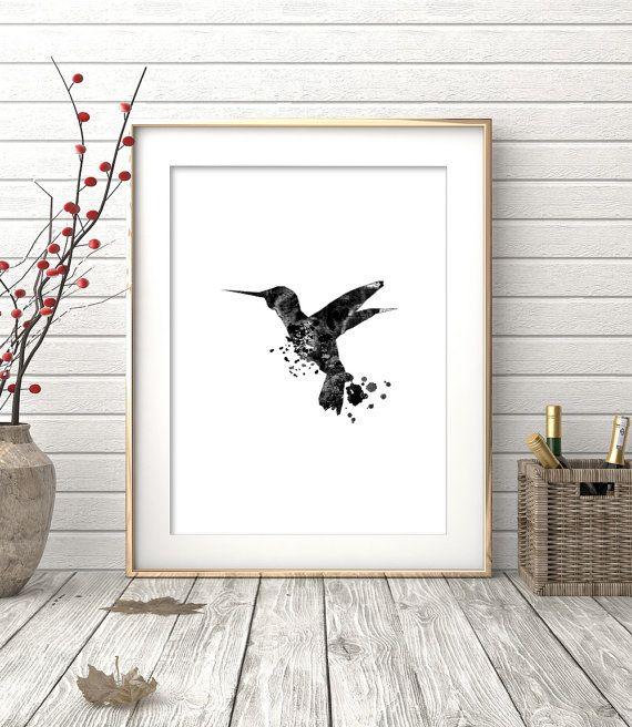 Kolibrie Art Hummingbird Print afdrukbare kunst door OhFinale