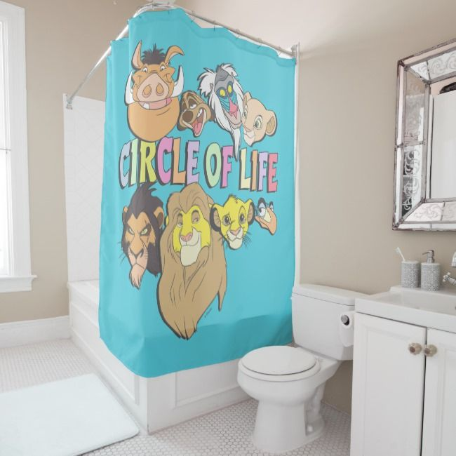 The Lion King Circle Of Life Shower Curtain Zazzle Com With