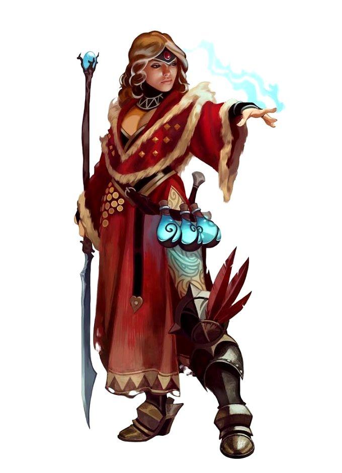 Female Human Shaman or Sorcerer - Pathfinder PFRPG DND D&D 3.5 5th ed d20 fantasy